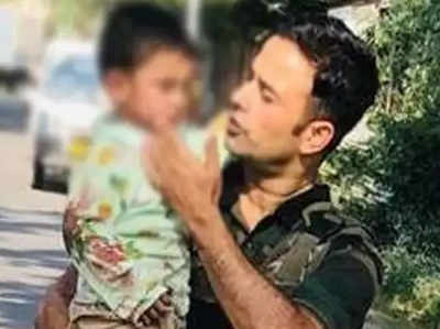 The soldiers rescued the child and brought them home