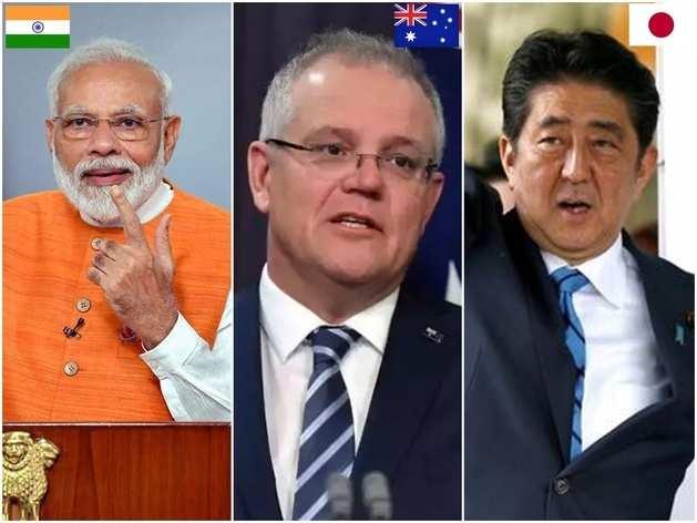 एशिया में चौतरफा घिरा चीन, साथ आए भारत-जापान और ऑस्ट्रेलिया