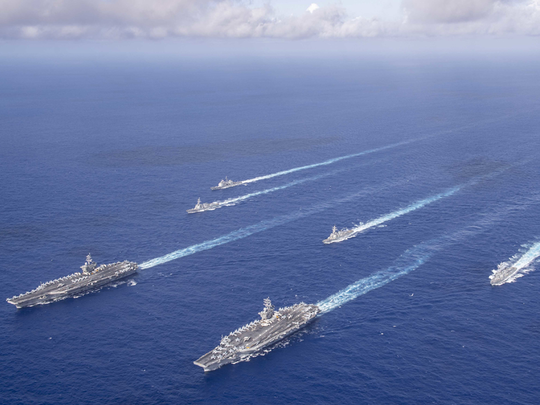 south china sea tensions heighten us begins naval exercises in response to china