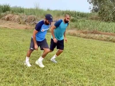 दौड़ लगाते मोहम्मद शमी (video grab)