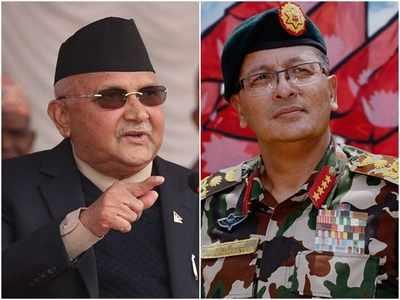 पीएम केपी शर्मा ओली और नेपाल सेनाध्यक्ष जनरल थापा