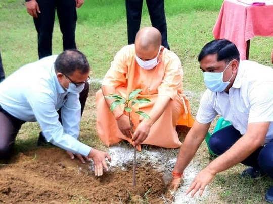 गोरखपुर में पौधरोपण अभियान