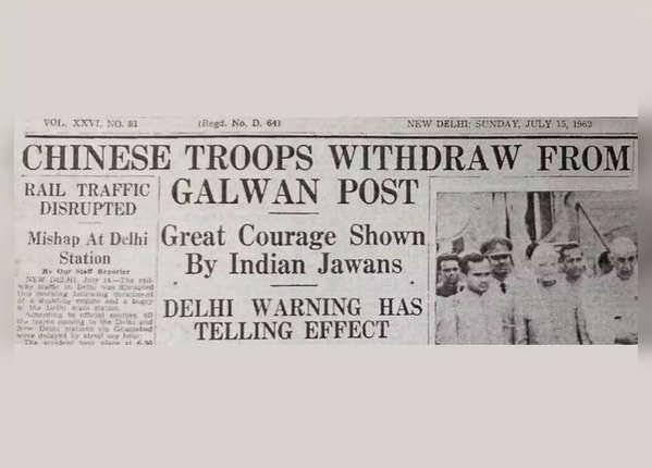 1962 में गलवान में चीन ने दिया था धोखा