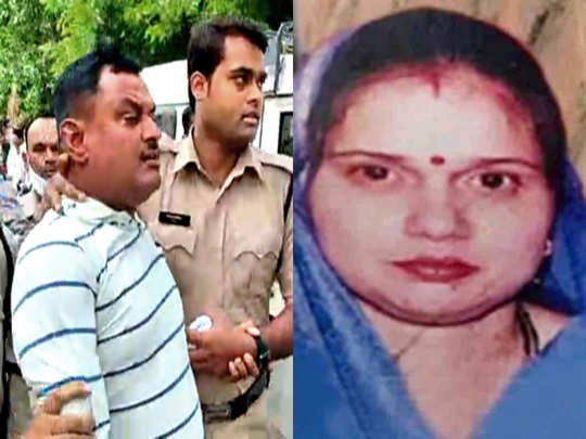 wife of vikas dubey scolds media at bhairav ghat of kanpur