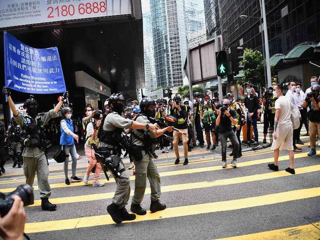 हॉन्ग कॉन्ग में हो रहे विरोध प्रदर्शन
