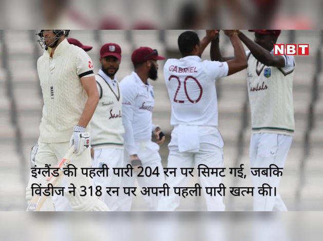 वेस्टइंडीज ने इंग्लैंड को हराया, सीरीज में 1-0 से आगे
