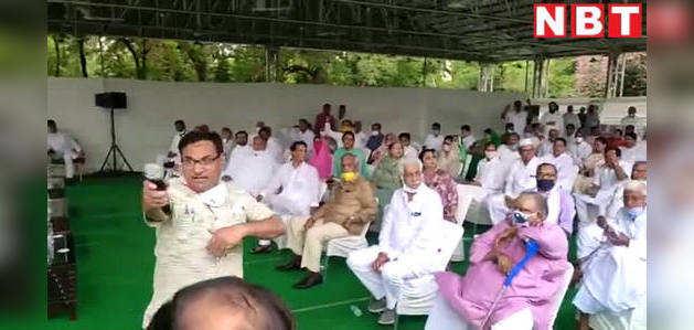 देखिए, जयपुर में कांग्रेस का शक्ति प्रदर्शन, विधायकों ने गहलोत के समर्थन में लगाए नारे