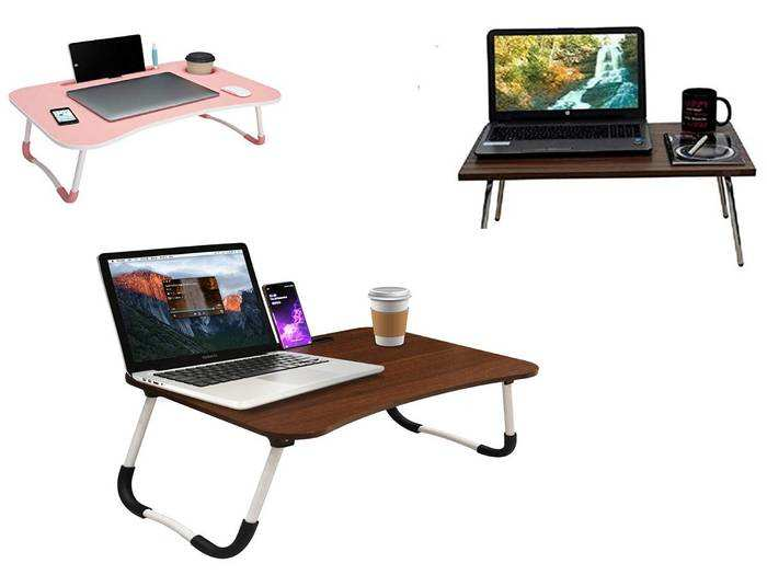 PAffy Height Adjustable Foldable Multi-Function Portable Laptop /Study /Bed Table (Purple, Paffy-LT-HStyle-Purple-HI)