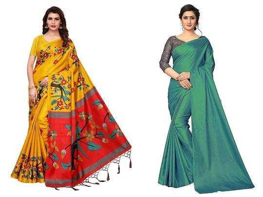 women saree on amazon