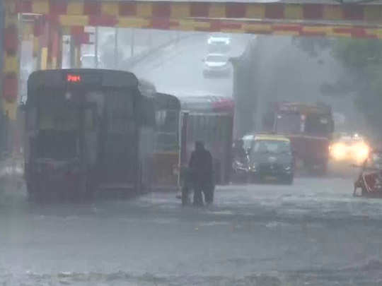 water logged in many areas of mumbai city after intense rainfall