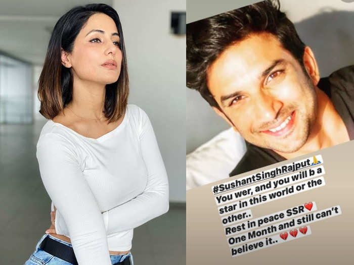 hina khan remember sushant singh rajput says you were and will be a star in this world or the other