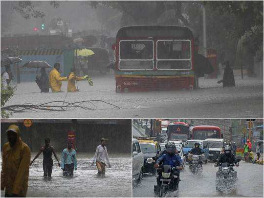 mumbai rains pictures videos flooding at hindmata and traffic jams in vile parle santacruz