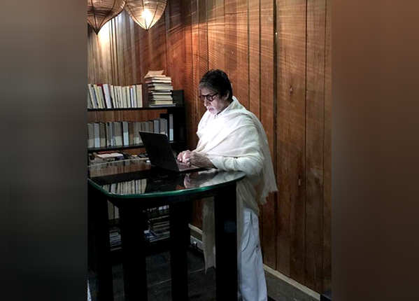 Big B is fond of reading and writing
