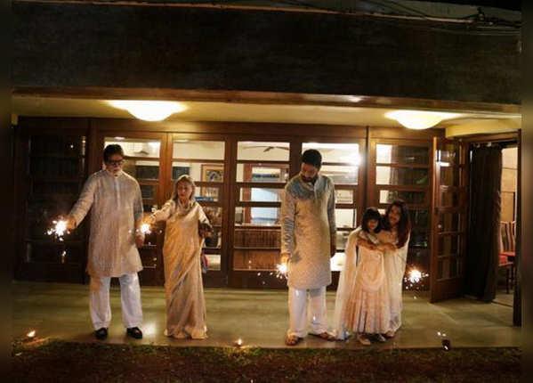 Celebrating on diwali