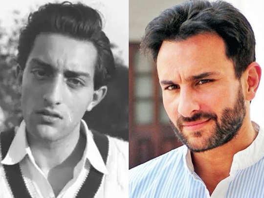 saif ali khan with with father mansur ali khan pataudi