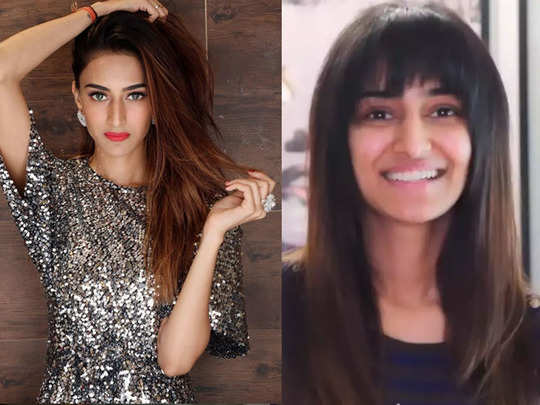 kasautii zindagii kay fame erica fernandes chops off her hair at home hina khan stunned with her makeover