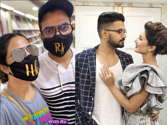 hina khan meets beau rocky jaiswal while she went out for shopping shares photos