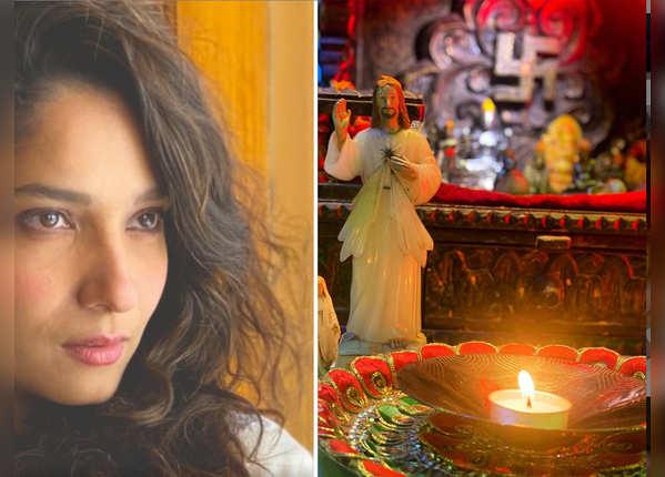 अंकिता ने सुशांत के लिए कैंडल जलाया है