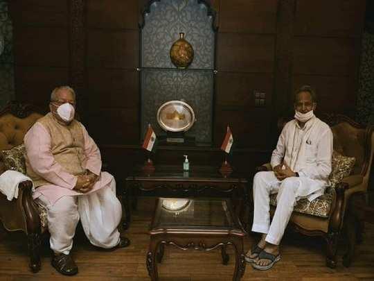 cm ashok gehlot meet Governor Kalraj Mishra