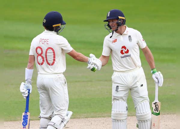 मैनचेस्टर टेस्ट: पोप और बटलर ने इंग्लैंड को संभाला