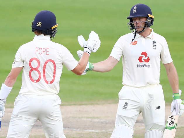 तीसरा टेस्ट: पोप और बटलर की धांसू बैटिंग, संभला इंग्लैंड