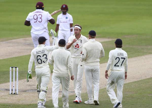 विंडीज की पहली पारी 197 पर सिमटी, ब्रॉड का 'सिक्स'