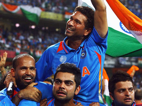 virat kohli says 2011 world cup trophy was a gift for sachin tendulkar