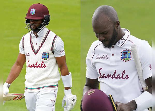 फिर नहीं चले विंडीज टीम के बल्लेबाज