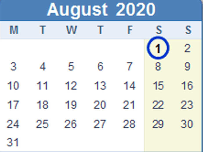 10 rules changing from 1 august 2020 and must be completed before 31 july