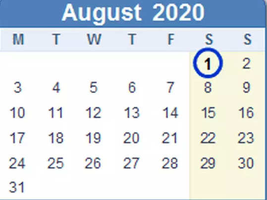 must be completed before 31 july and 10 rules changing from 1 august 2020