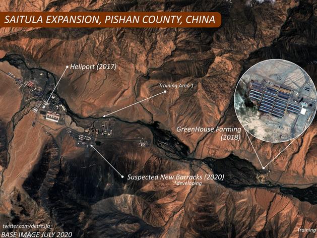 लद्दाख से सटे अपने सैन्य बेस को आधुनिक बना रहा चीन