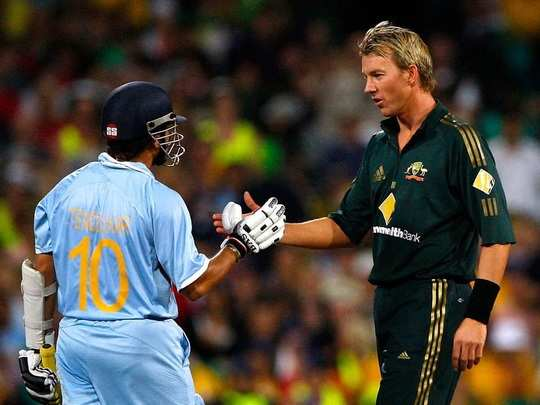 Sachin Tendulkar and Brett Lee ODI