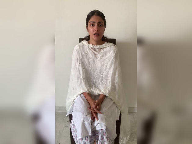 Riya Chakraborty appeared for the first time after the FIR, released the video and said - Satyamev Jayate