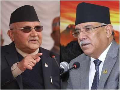 नेपाली पीएम ओली और प्रचंड