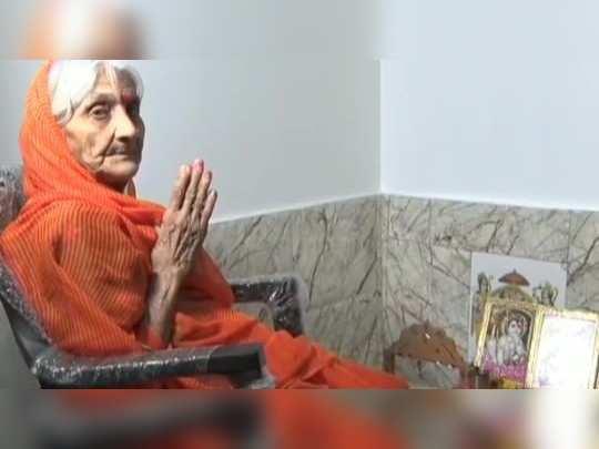 urmila chaturvedi of jabalpur has not eaten food for the construction of ram mandir for 28 years