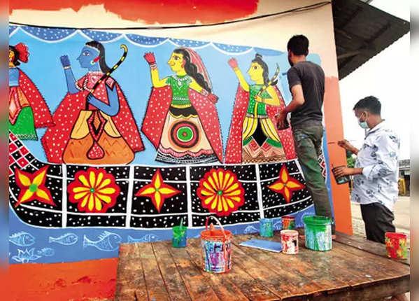 भूमि पूजन और रंगों का उत्सव