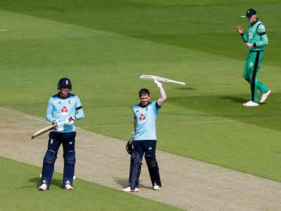 साउथैम्पटन वनडे में सेंचुरी लगाने के बाद इयोन मॉर्गन