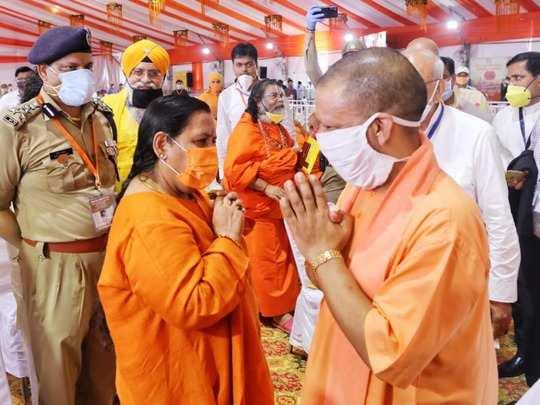 योगी आदित्यनाथ से मिलीं उमा भारती