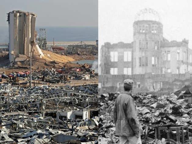 बेरूत धमाके से ताजा हुए WW2 के हिरोशिमा ऐटम बम धमाके के जख्म, 3 लाख बेघर