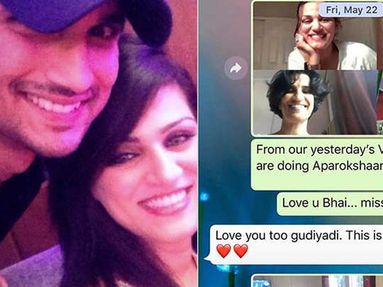 shweta singh kirti shared a screenshot of his whatsapp chat with sushant and she said you loved us so dearly