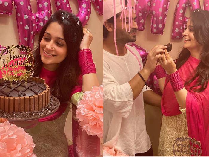 shoaib ibrahim bakes a beautiful chocolate cake for wife dipika kakar on her birthday watch photos