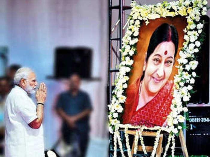 पीएम मोदी ने दी सुषमा को श्रद्धांजलि