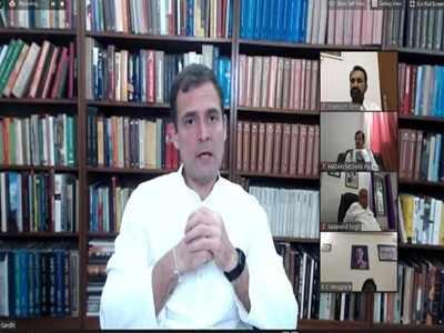 वर्चुअल रैली में बात करते राहुल गांधी