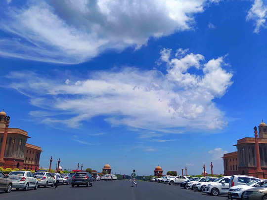 blue SKY in delhi