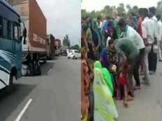 Bhind: ट्रक ने 3 युवकों को रौंदा, सड़क पर जम कर बवाल, NH-92 पर लगा 25KM लंबा जाम