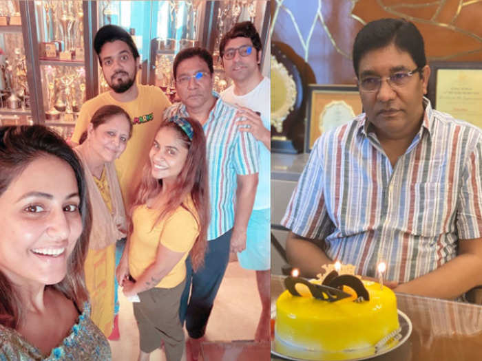 naagin 5 fame hina khan celebrates her daddy birthday at home share photos