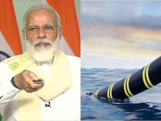 pm modi inaugurate submarine optical fiber cable andaman islands know how they are are laid on the ocean floor