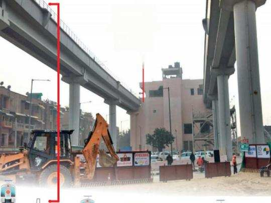 delhi metro to run height of an 8 storey building in janakpuri west-rk ashram marg corridor