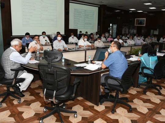 मदन कौशिक ने अधिकारियों संग की बैठक