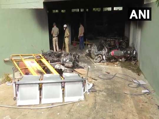 visuals of property house vehicle vandalised in bengaluru violence